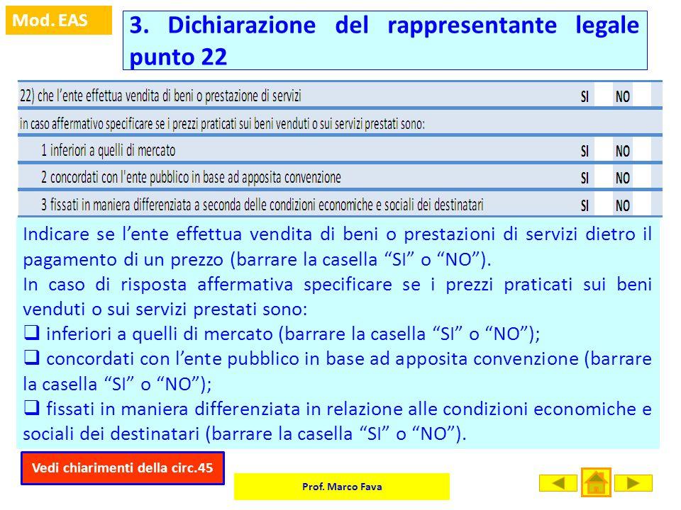 3. Dichiarazione del rappresentante legale punto 22