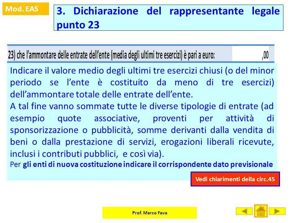 3. Dichiarazione del rappresentante legale punto 23