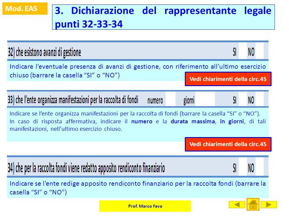 3. Dichiarazione del rappresentante legale punti 32-33-34