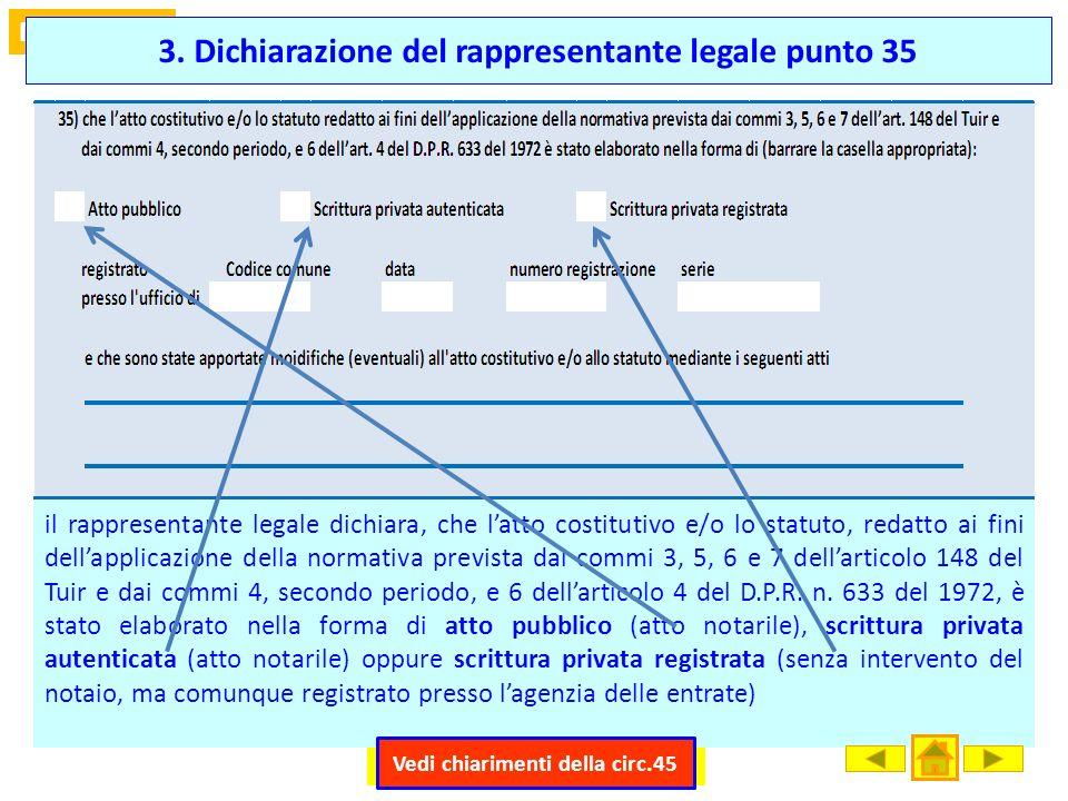 3. Dichiarazione del rappresentante legale punto 35
