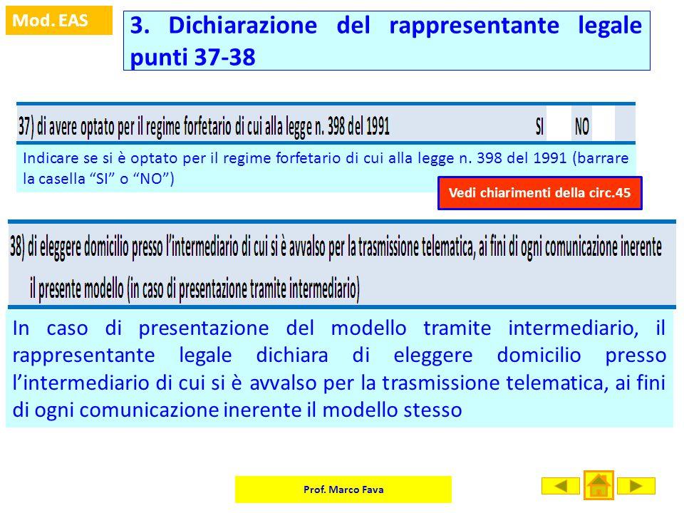 3. Dichiarazione del rappresentante legale punti 37-38