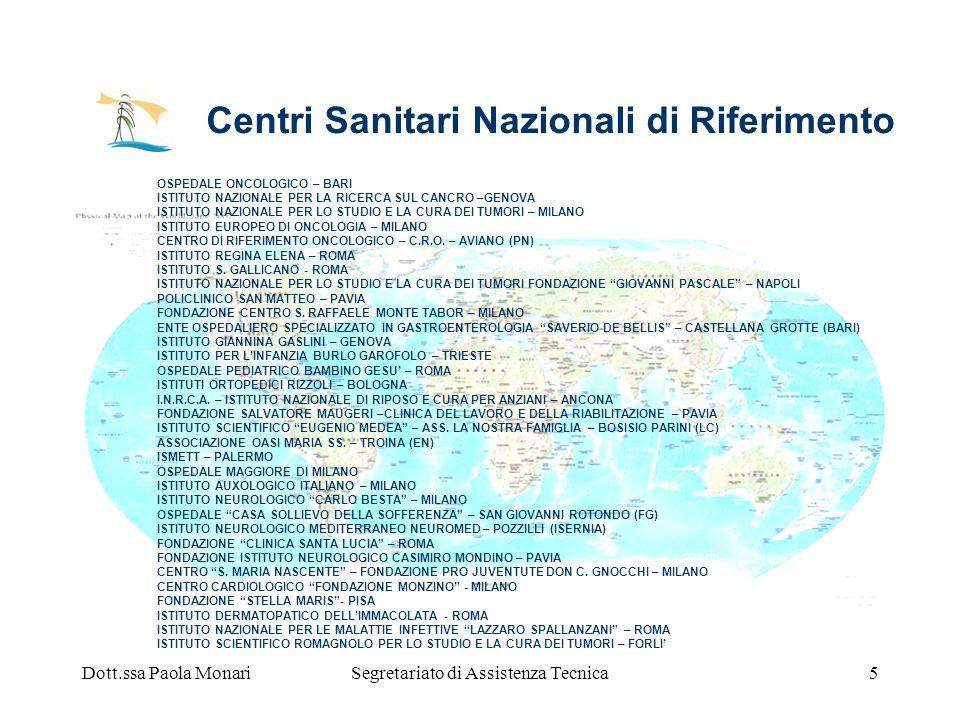 Centri Sanitari Nazionali di Riferimento