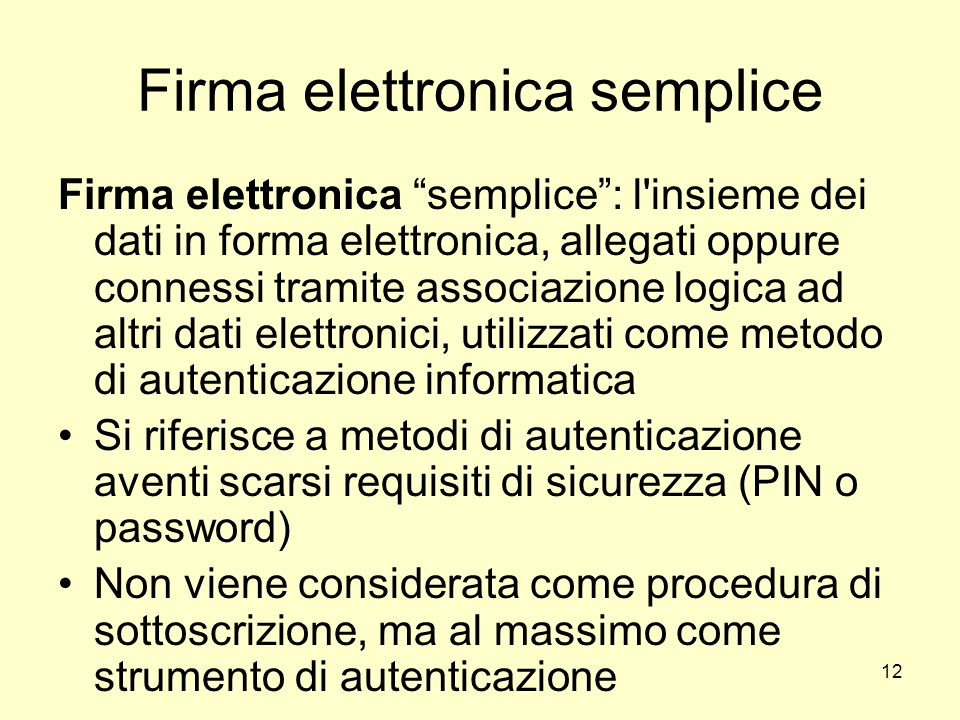 Firma elettronica semplice