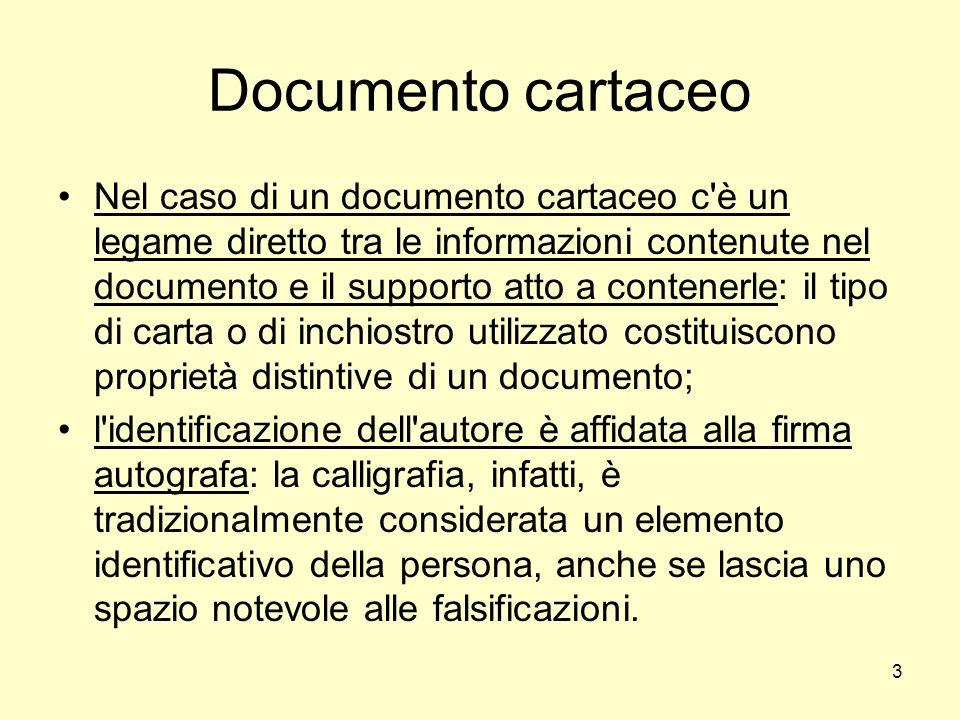 Documento cartaceo
