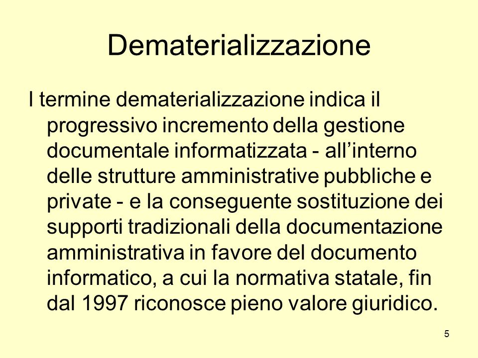 Dematerializzazione