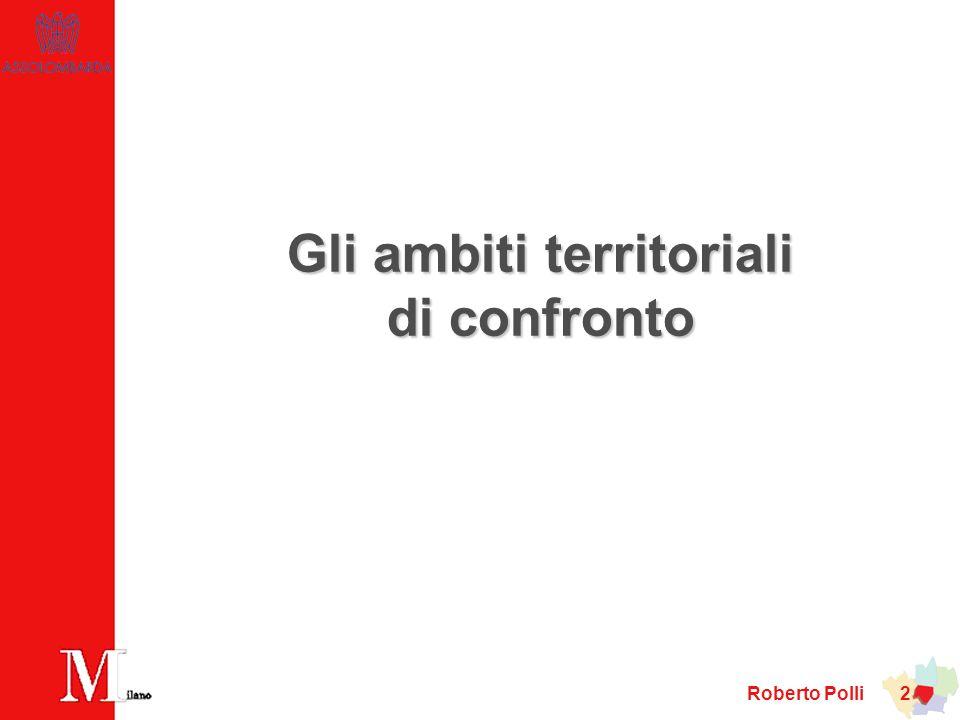 Gli ambiti territoriali di confronto