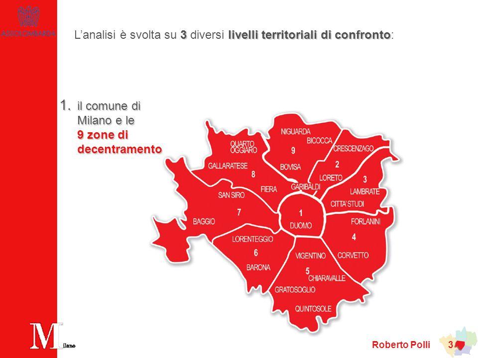 L'analisi è svolta su 3 diversi livelli territoriali di confronto:
