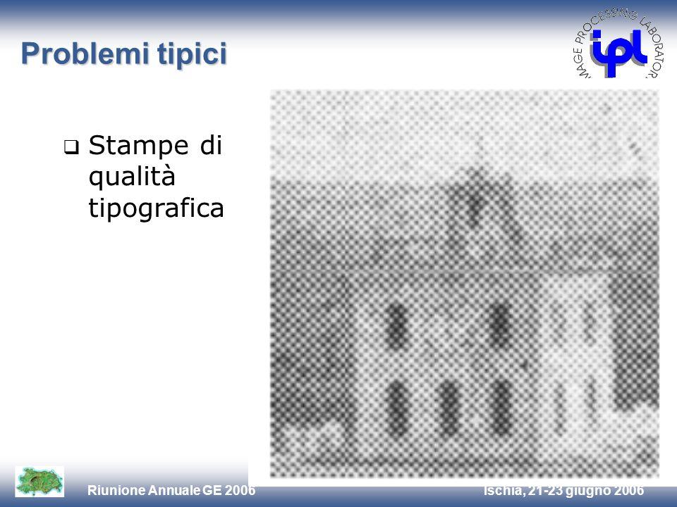 Problemi tipici Stampe di qualità tipografica