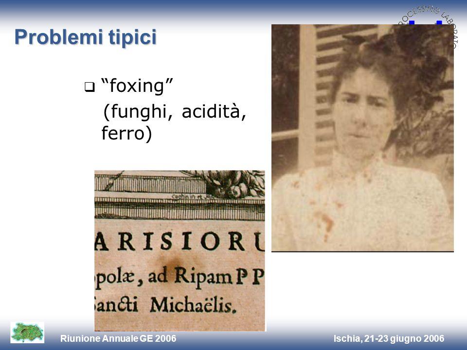 Problemi tipici foxing (funghi, acidità, ferro)
