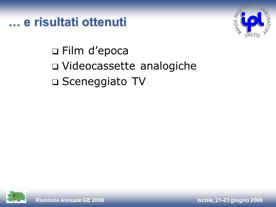 … e risultati ottenuti Film d'epoca Videocassette analogiche
