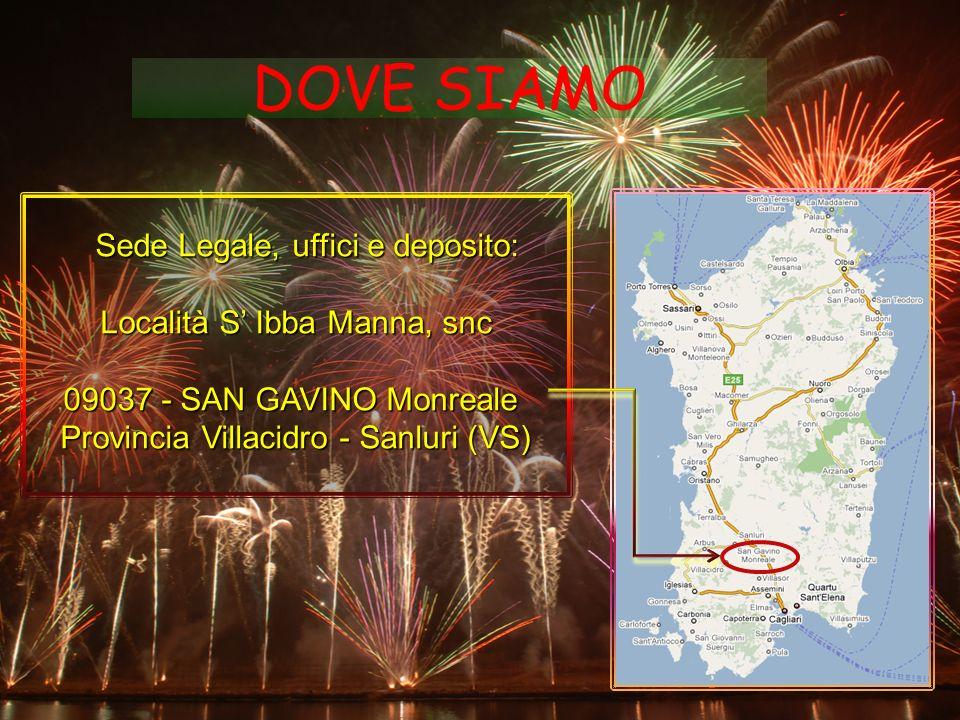 DOVE SIAMO Località S' Ibba Manna, snc 09037 - SAN GAVINO Monreale