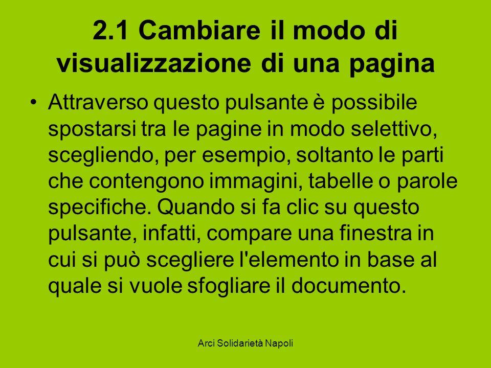 2.1 Cambiare il modo di visualizzazione di una pagina