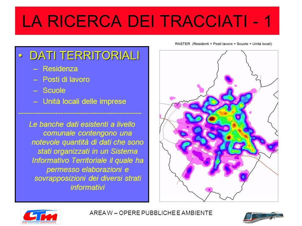 LA RICERCA DEI TRACCIATI - 1