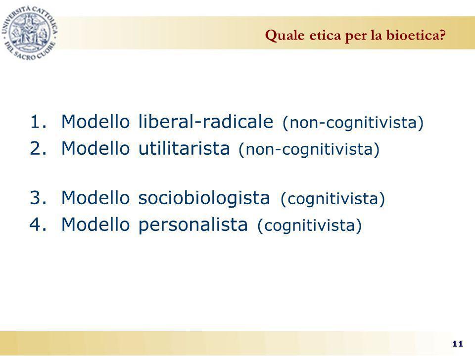 Quale etica per la bioetica