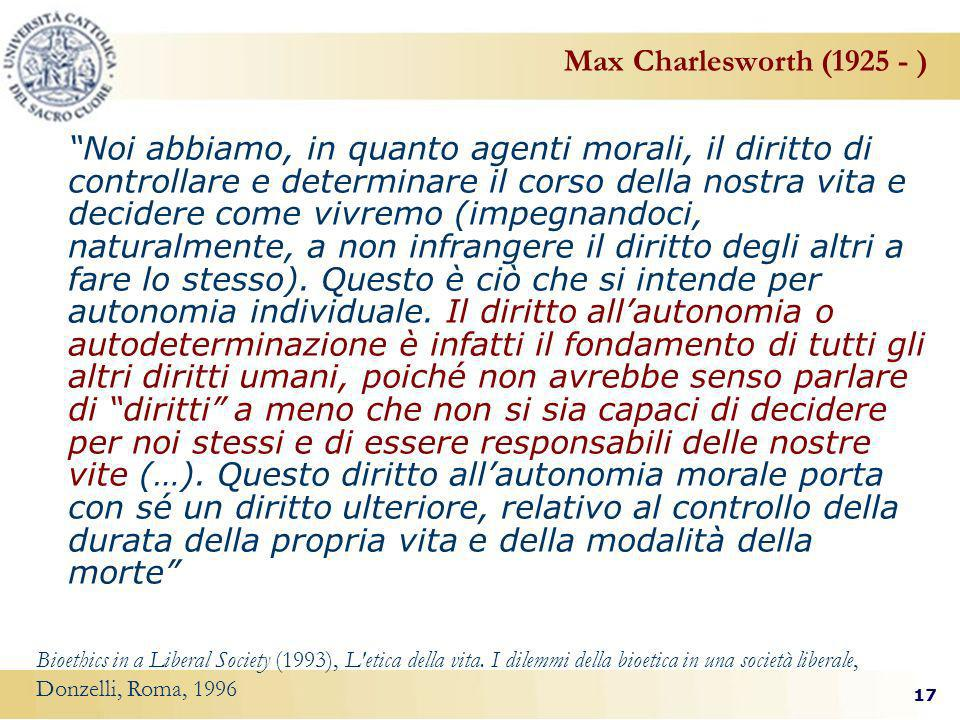 Max Charlesworth (1925 - )