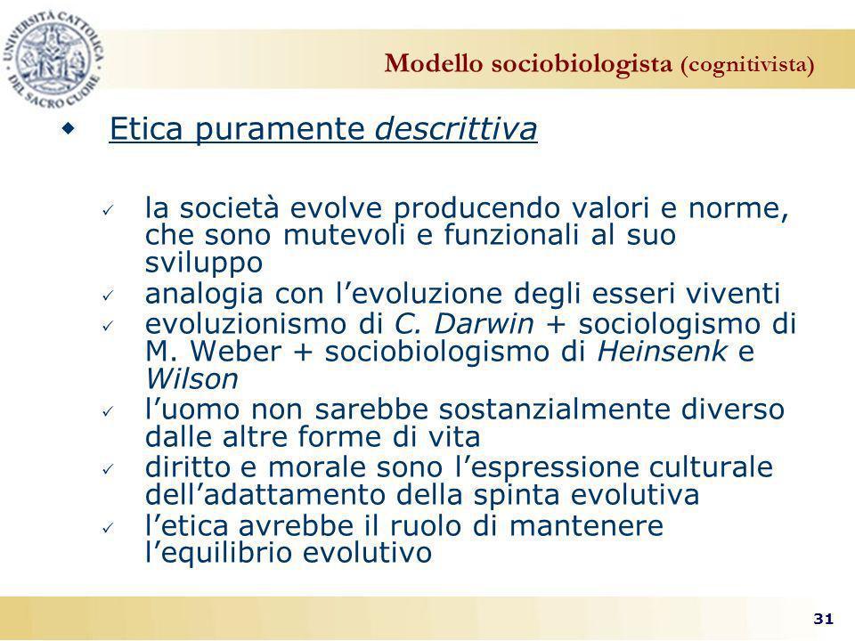 Modello sociobiologista (cognitivista)