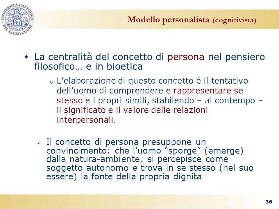 Modello personalista (cognitivista)