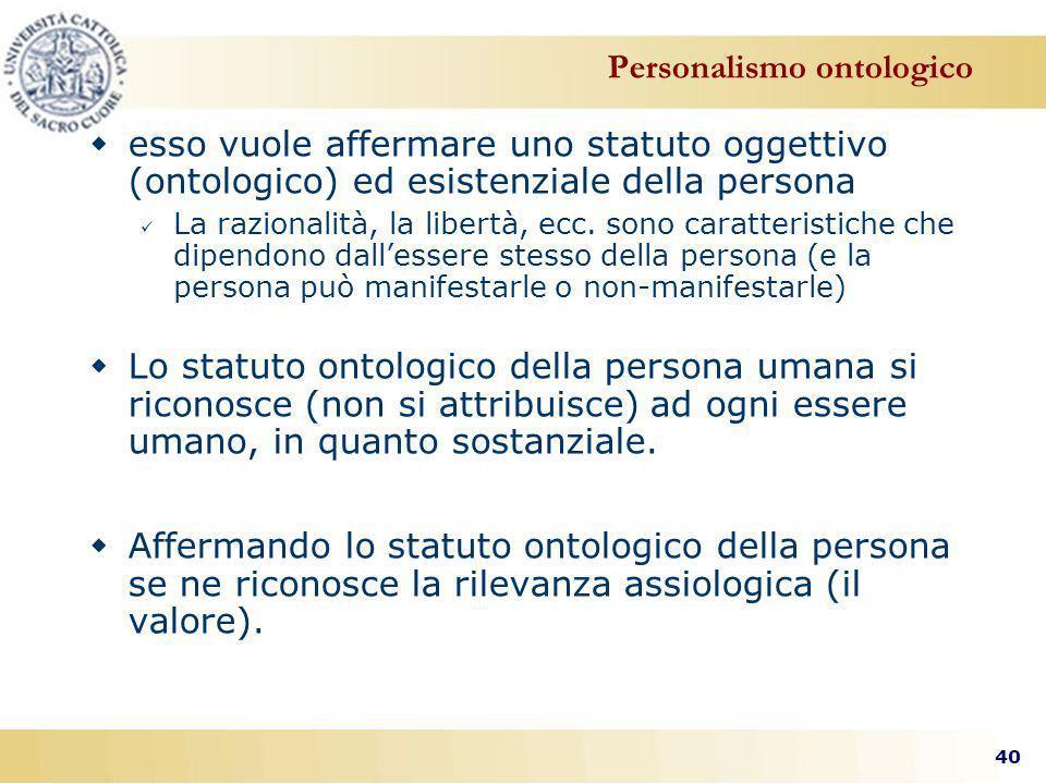 Personalismo ontologico