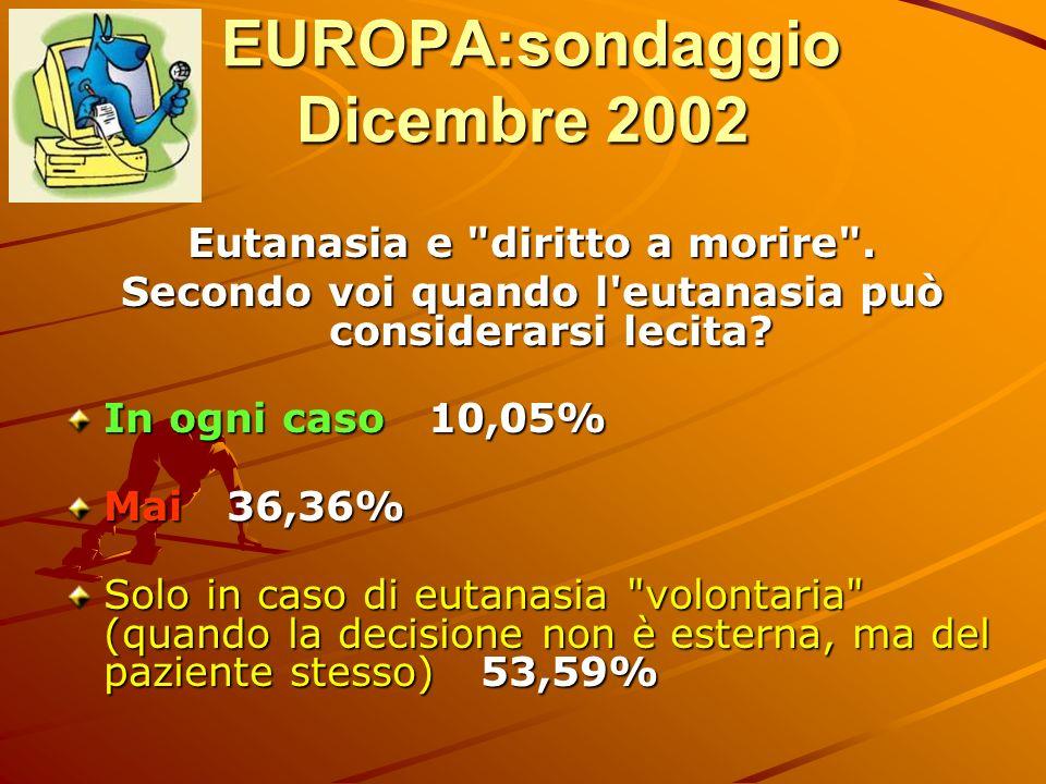 EUROPA:sondaggio Dicembre 2002