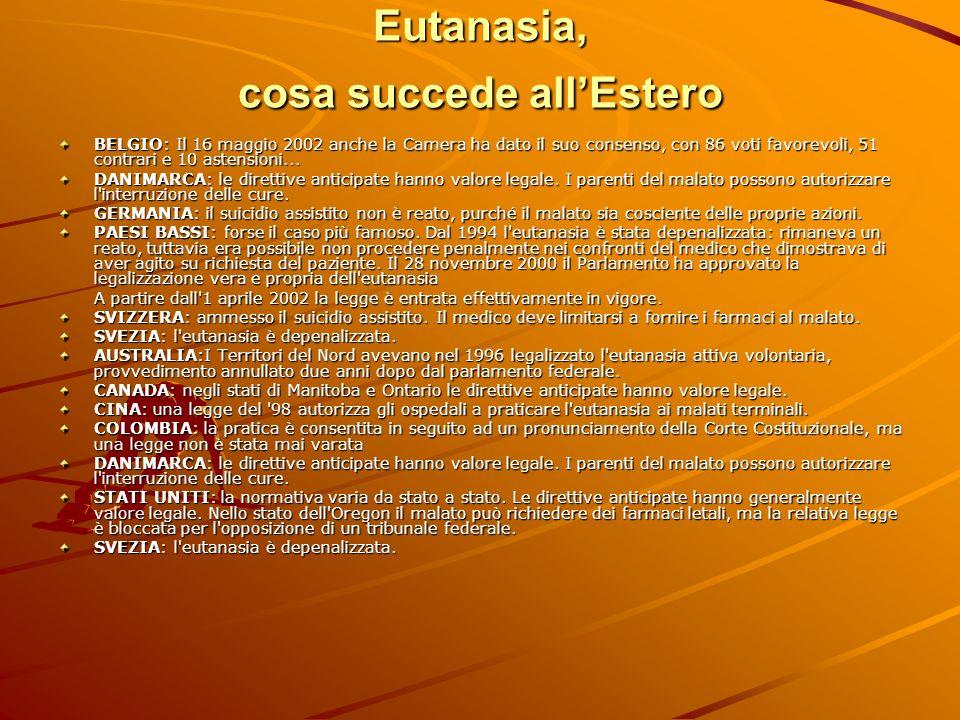 Eutanasia, cosa succede all'Estero