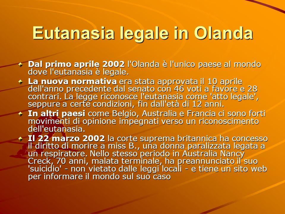 Eutanasia legale in Olanda