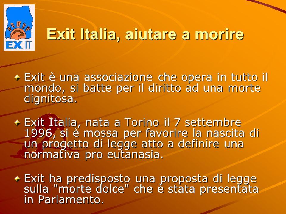 Exit Italia, aiutare a morire