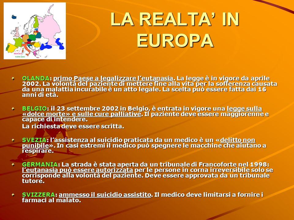 LA REALTA' IN EUROPA