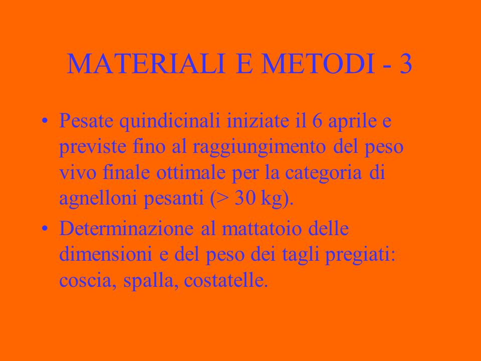 MATERIALI E METODI - 3