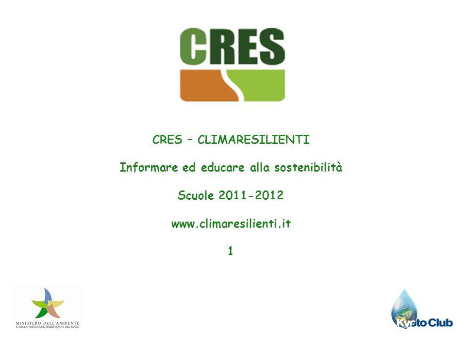 CRES – CLIMARESILIENTI Informare ed educare alla sostenibilità
