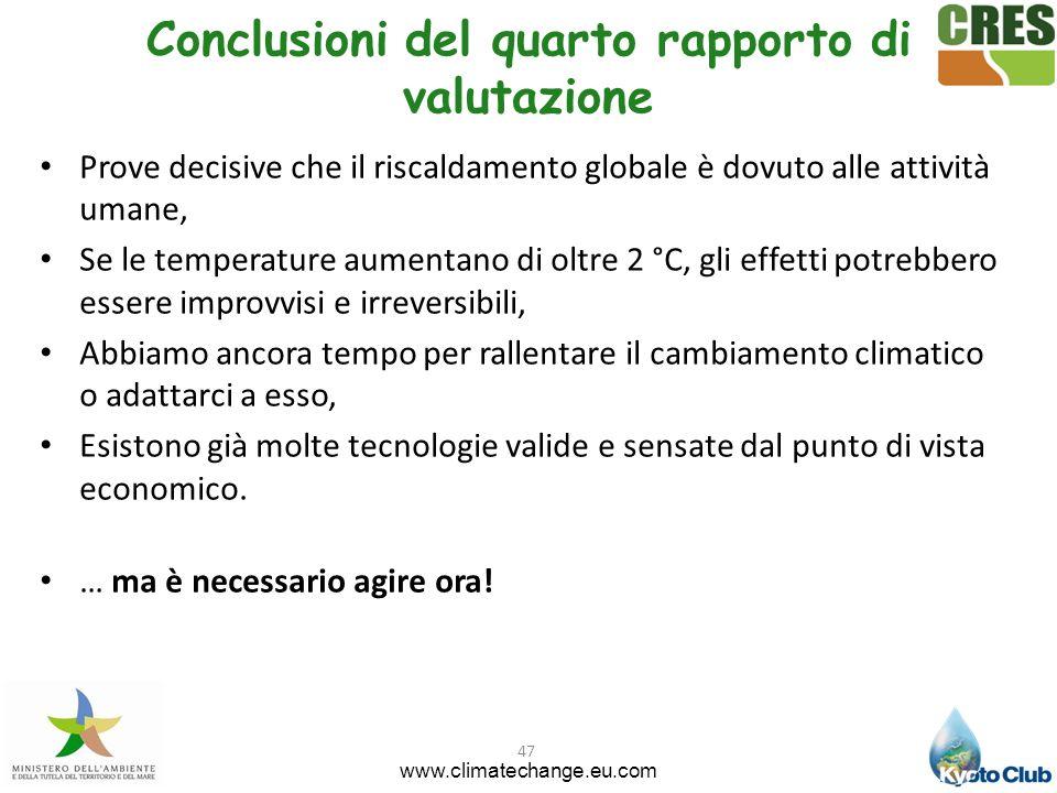 Conclusioni del quarto rapporto di valutazione