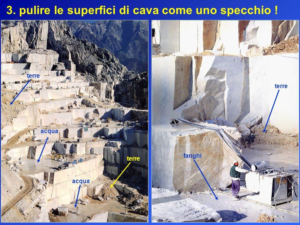 3. pulire le superfici di cava come uno specchio !
