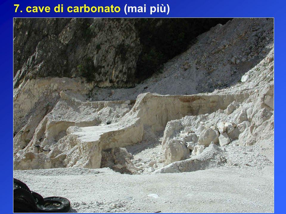 7. cave di carbonato (mai più)