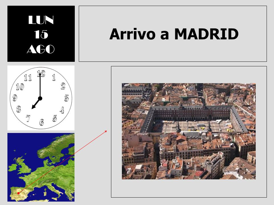 LUN 15 AGO Arrivo a MADRID
