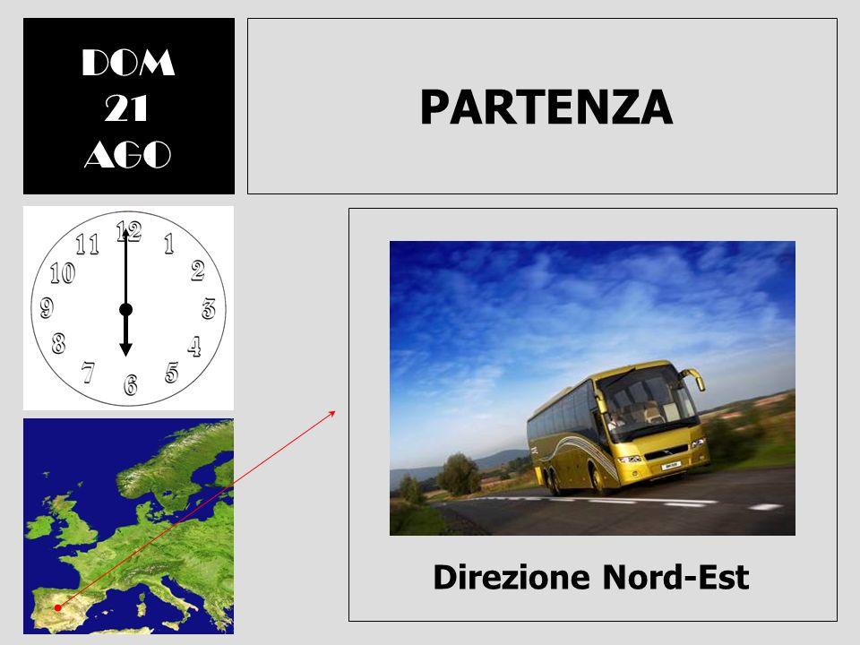 DOM 21 AGO PARTENZA Direzione Nord-Est