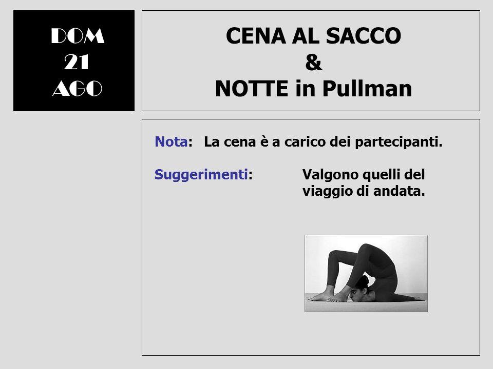 CENA AL SACCO & NOTTE in Pullman