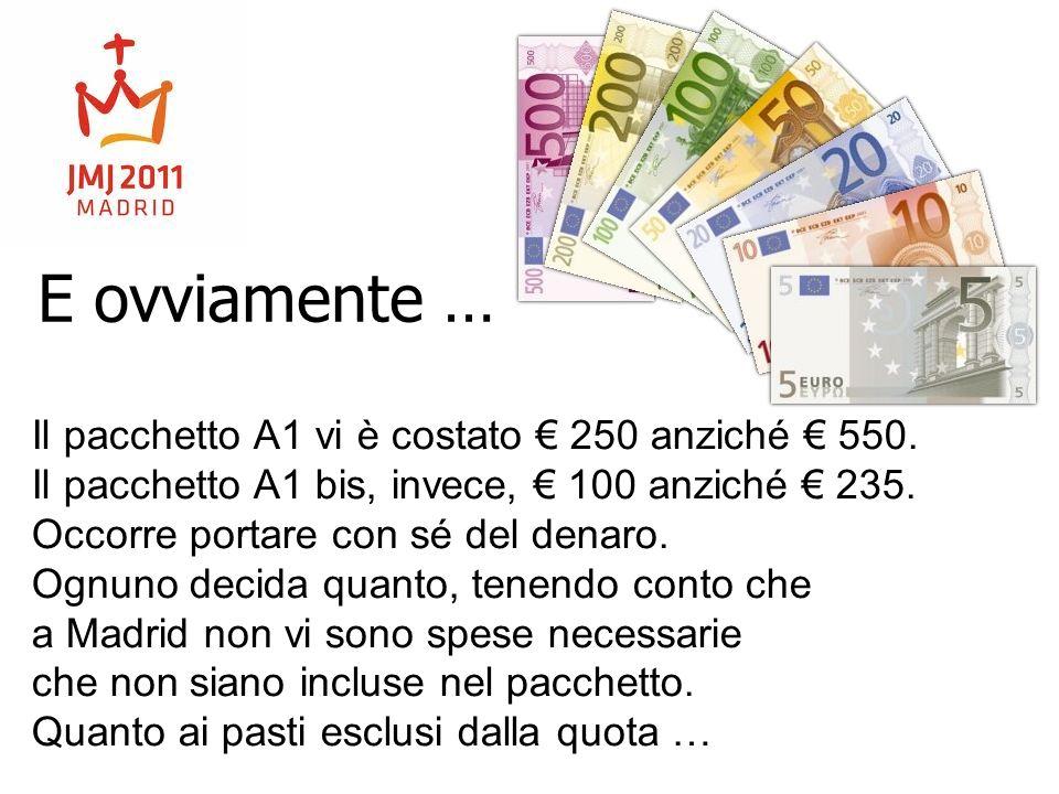 E ovviamente … Il pacchetto A1 vi è costato € 250 anziché € 550.