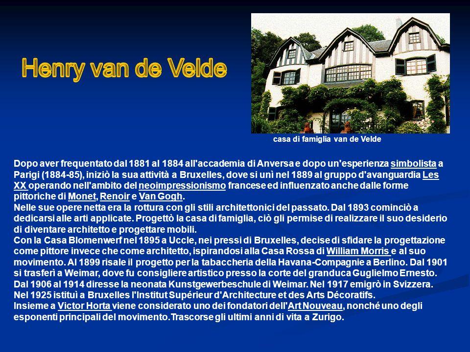 Henry van de Velde casa di famiglia van de Velde.