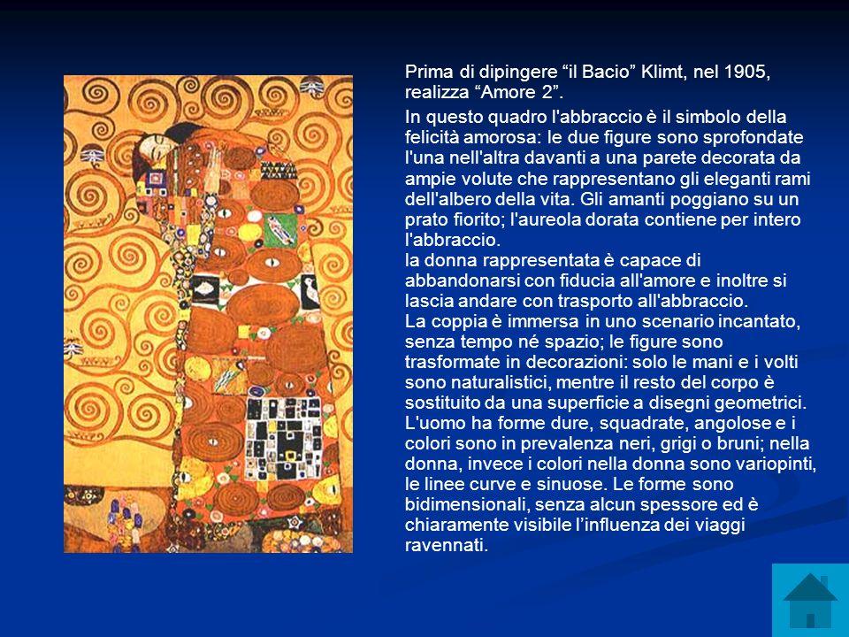 Prima di dipingere il Bacio Klimt, nel 1905, realizza Amore 2 .