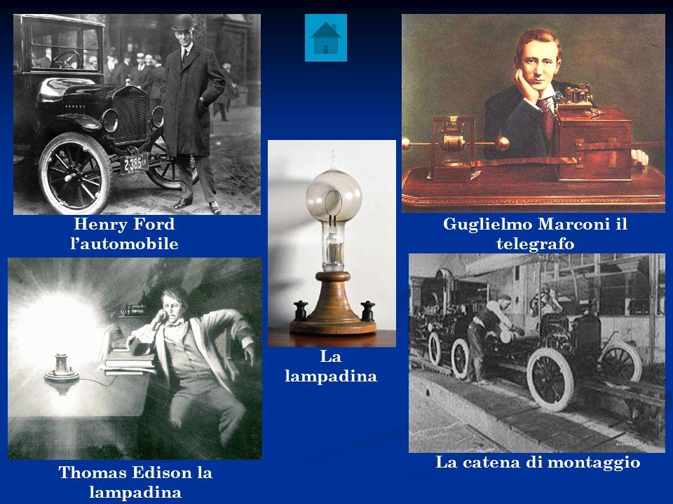 Henry Ford l'automobile Guglielmo Marconi il telegrafo