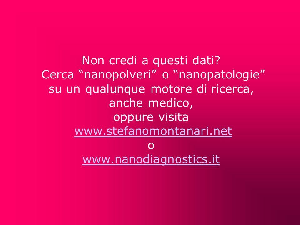 Cerca nanopolveri o nanopatologie