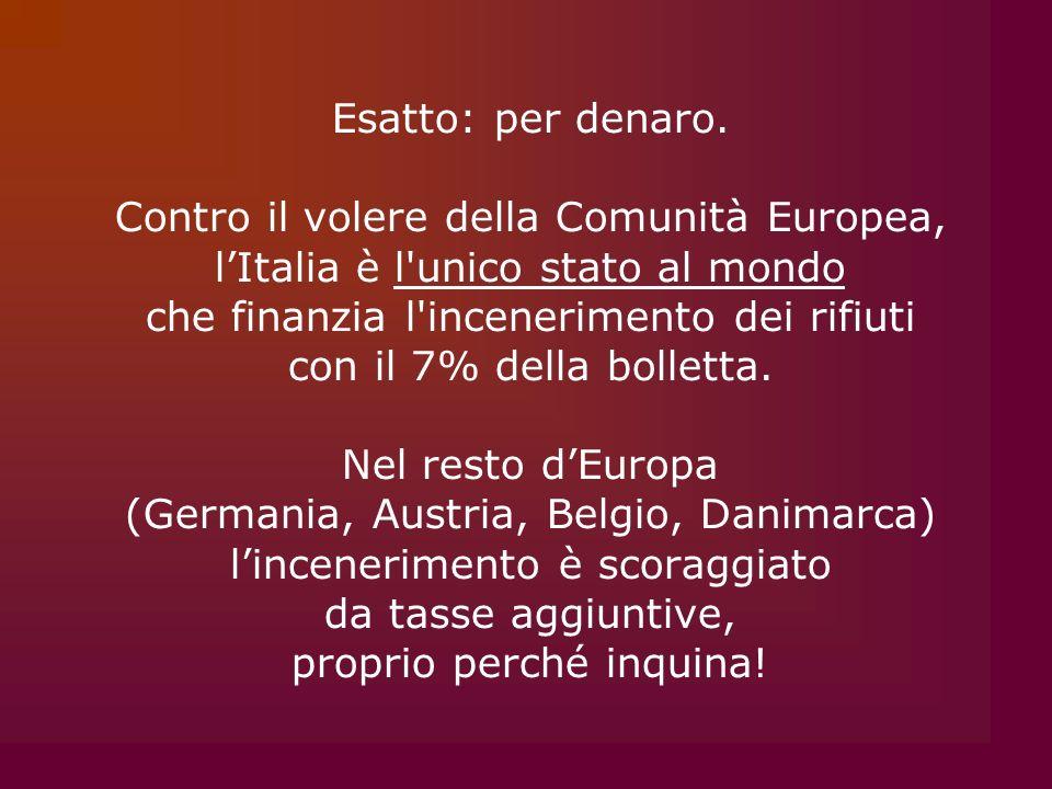 Contro il volere della Comunità Europea,