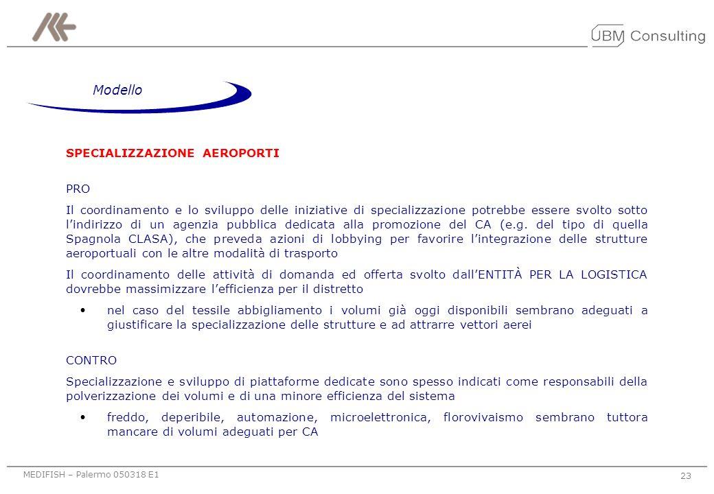 Modello SPECIALIZZAZIONE AEROPORTI PRO