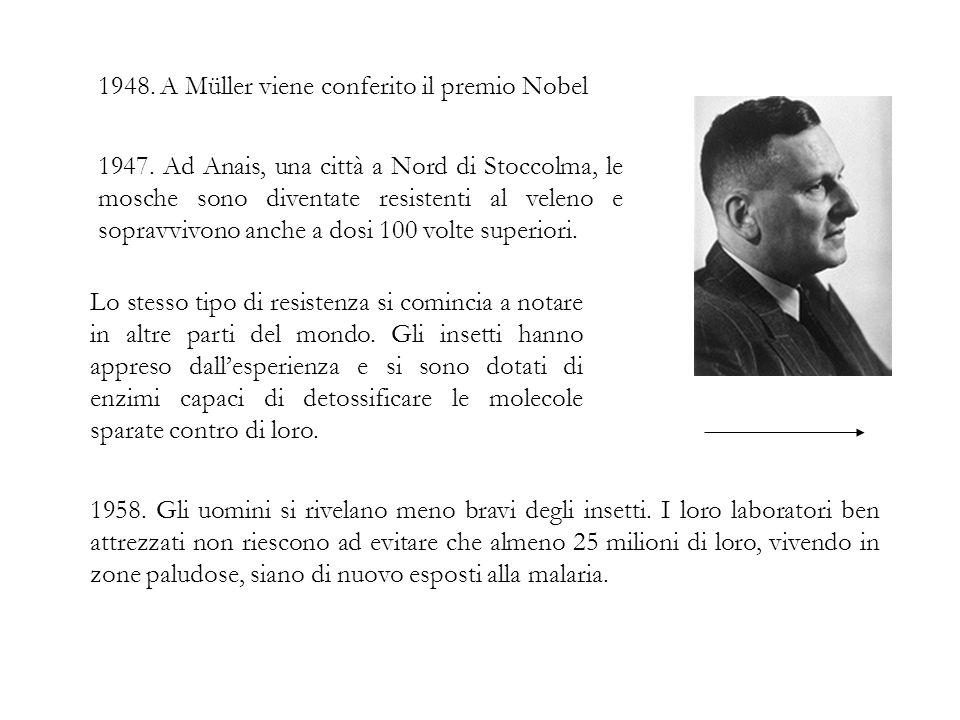 1948. A Müller viene conferito il premio Nobel