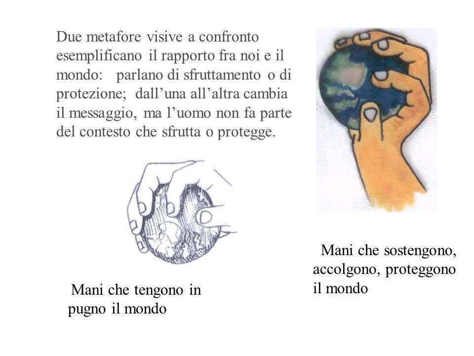 Mani che sostengono, accolgono, proteggono il mondo