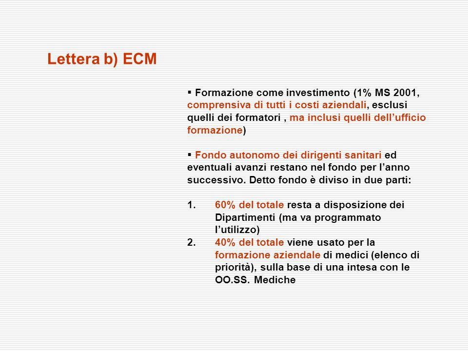 Lettera b) ECM