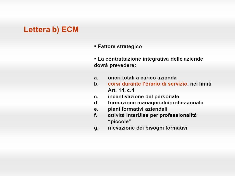 Lettera b) ECM Fattore strategico