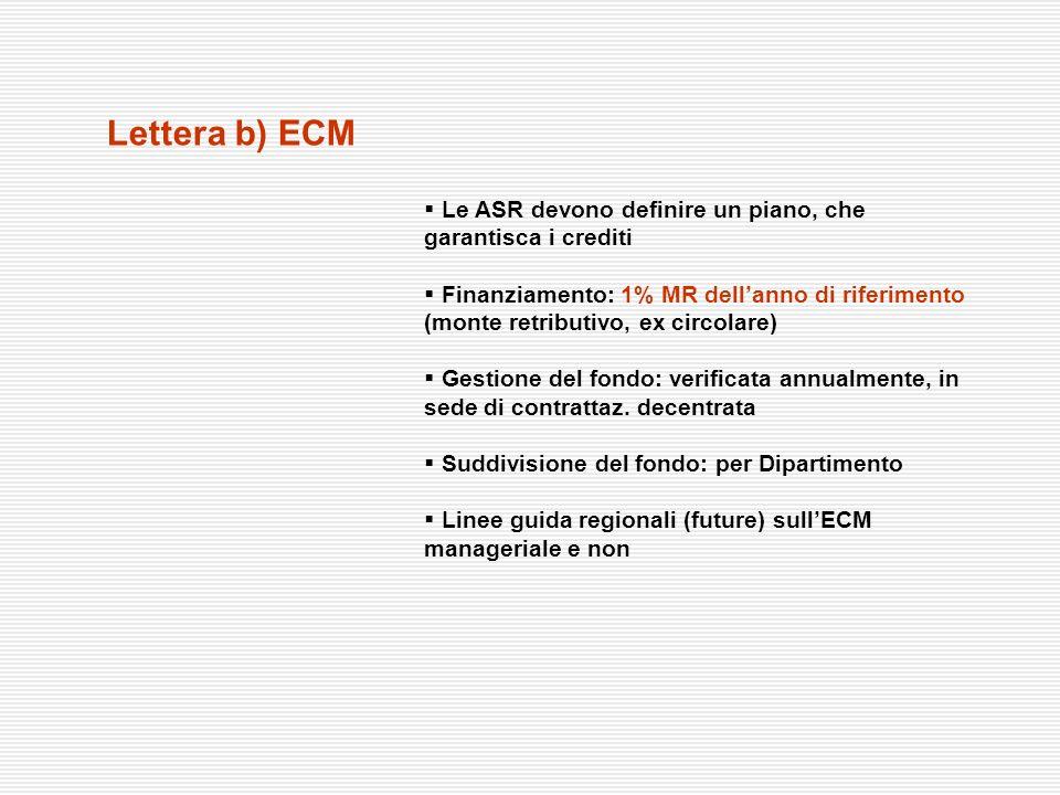 Lettera b) ECMLe ASR devono definire un piano, che garantisca i crediti.