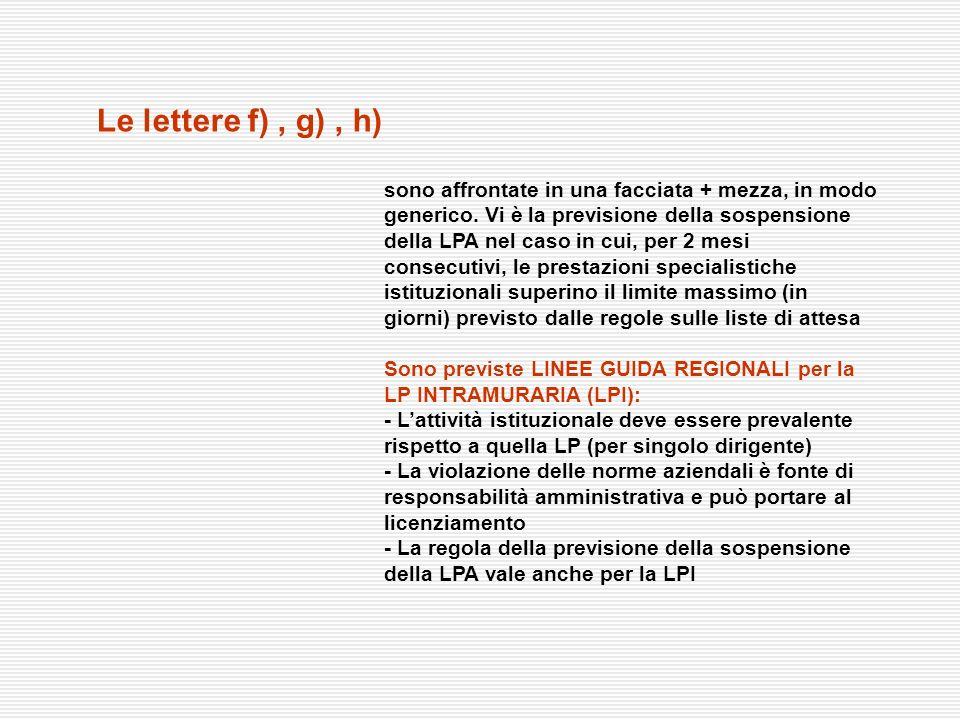 Le lettere f) , g) , h)