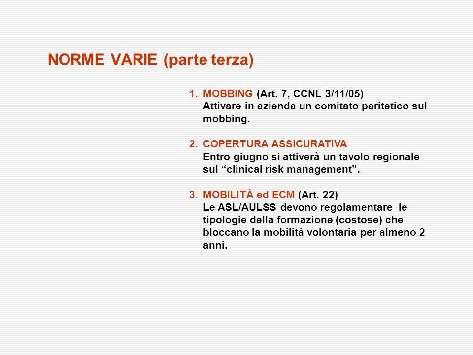 NORME VARIE (parte terza)