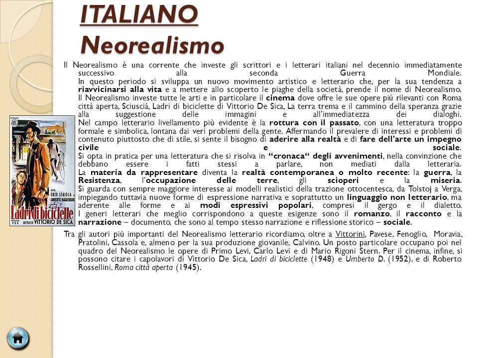 ITALIANO Neorealismo